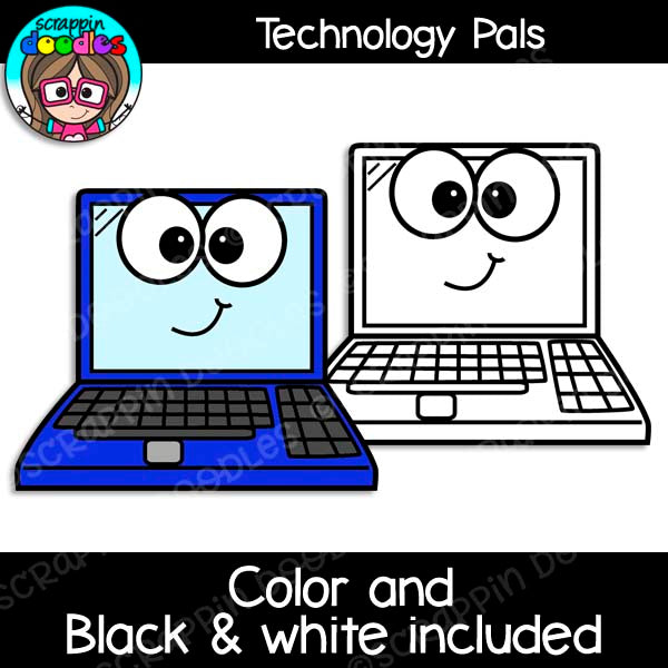 Technology Pals Clip Art