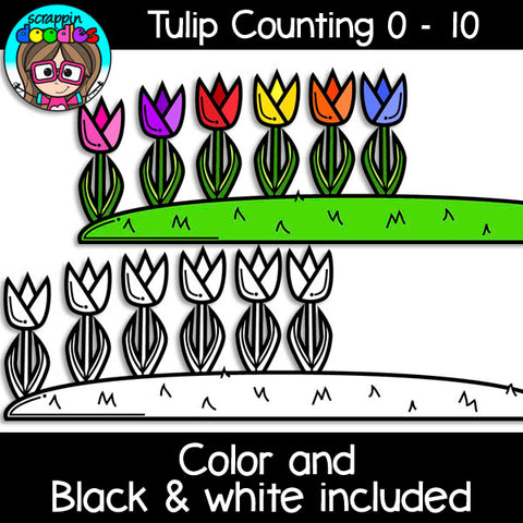 Tulip Counting Clip Art