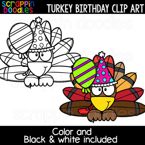 Turkey Birthday Clip Art