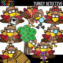 Turkey Detective Clip Art Detectives