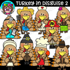 Turkey In Disguise 2 Clipart