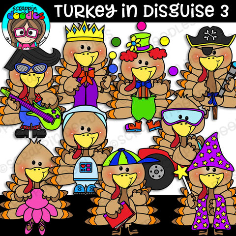 Turkey In Disguise 3 Clipart