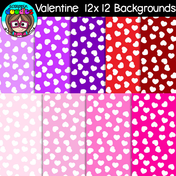 Valentine Heart 12x12 Backgrounds