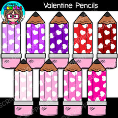 Valentine Pencils Clip Art