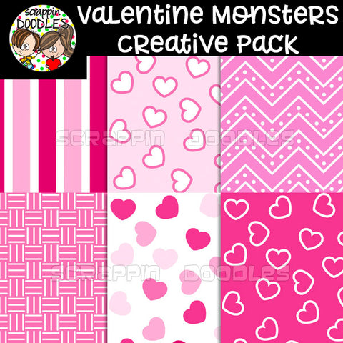 Valentine Monsters Creative Pack