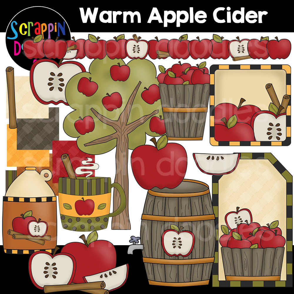 Warm Apple Cider Clip Art autumn apples