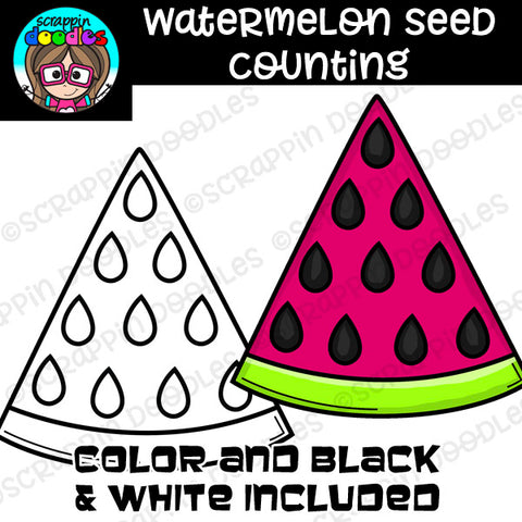 Watermelon Seed Counting Clip Art