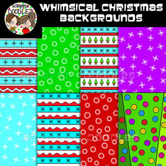 "Whimsical Christmas 12"" x 12"" Backgrounds"