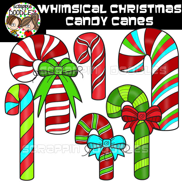 Whimsical Christmas Candy Canes