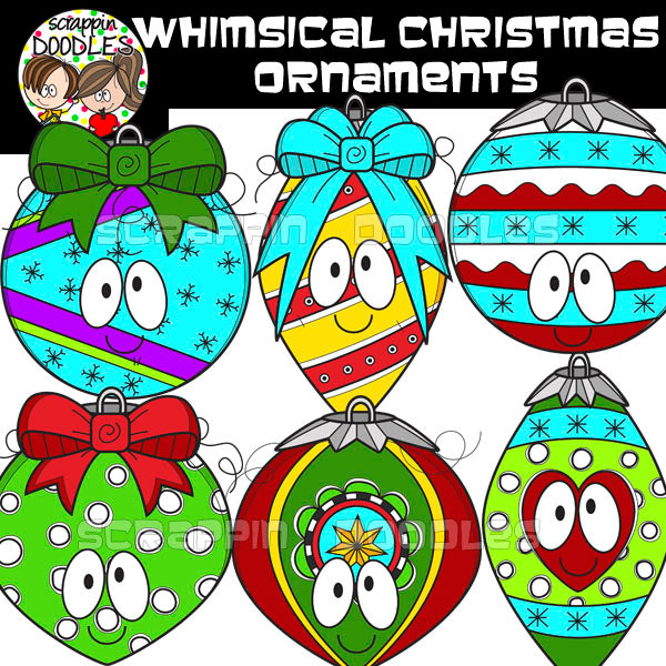 Whimsical Christmas Ornaments.Whimsical Christmas Ornaments