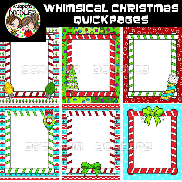 Whimsical Christmas Ready Pages