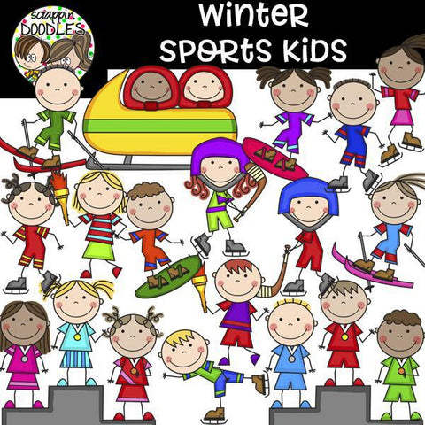 Winter Sports Kids Clip Art