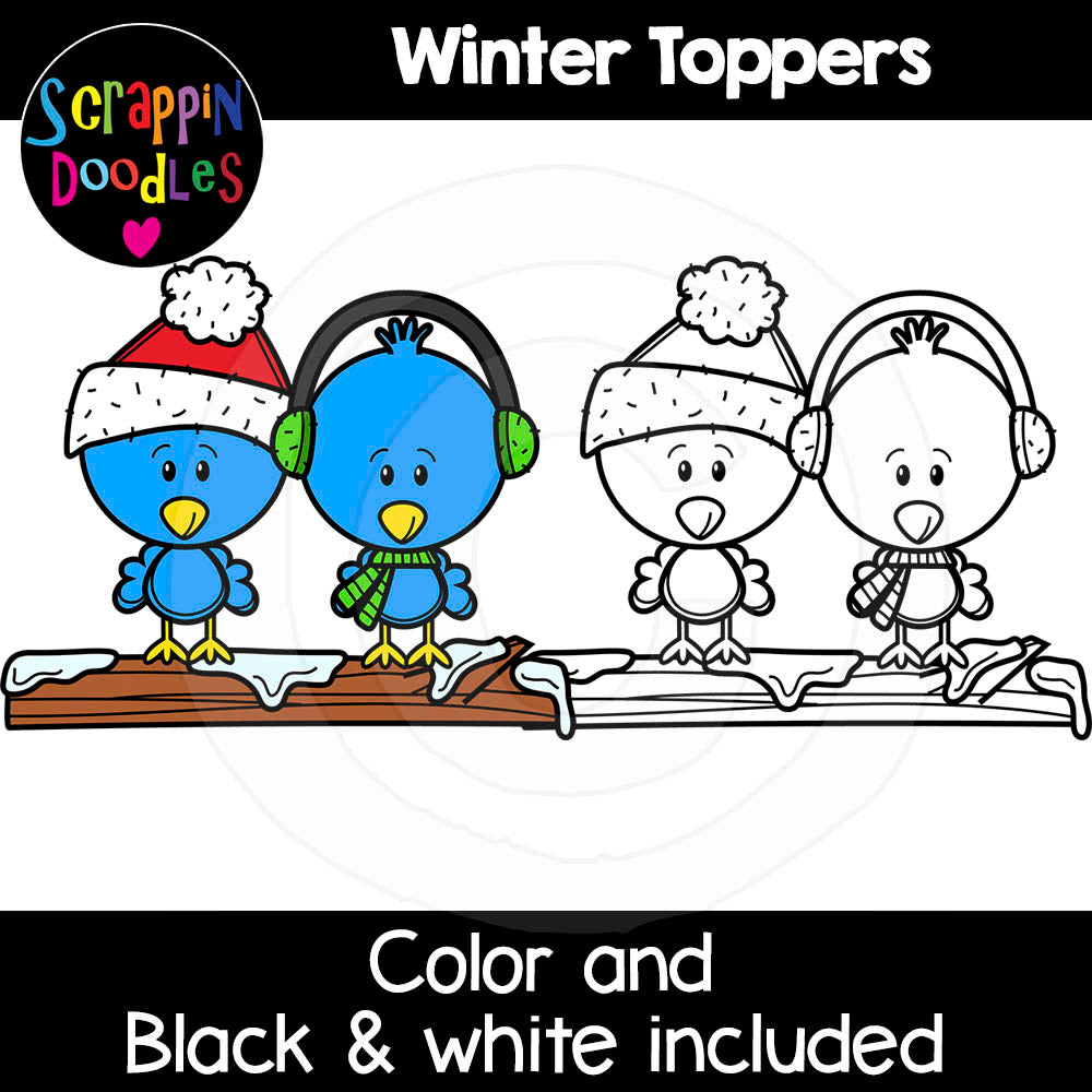 Winter Toppers Clip Art