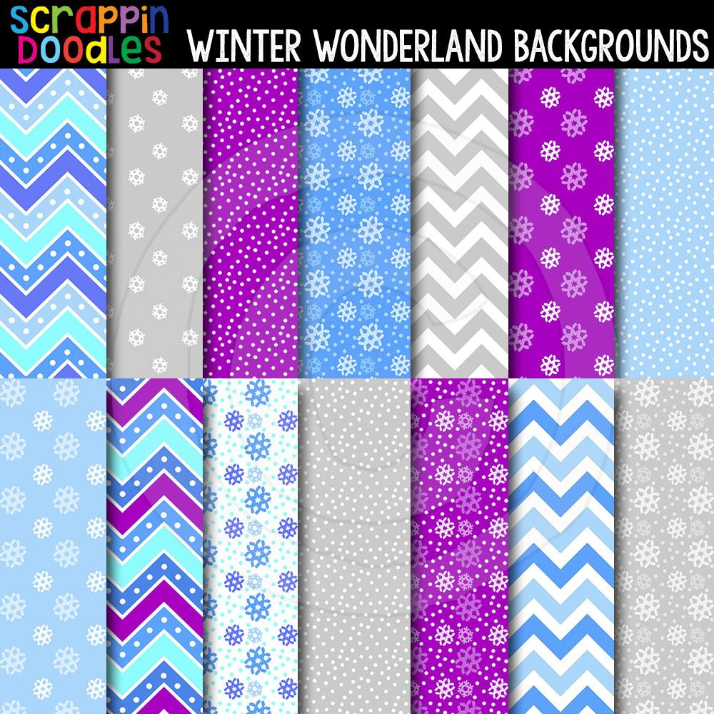 "Winter Wonderland 12"" x 12"" Backgrounds"
