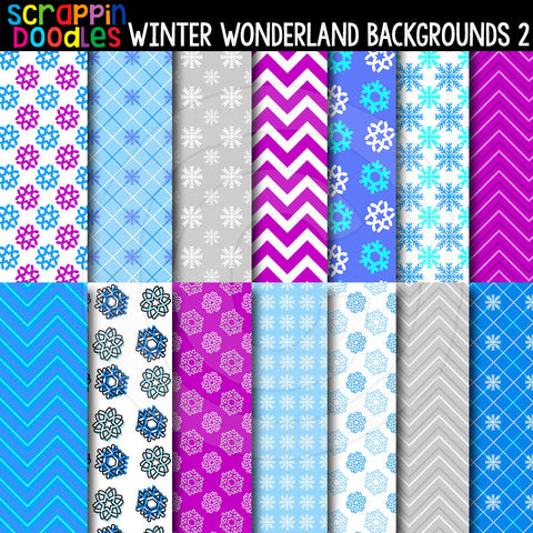 "Winter Wonderland 2 - 12"" x 12"" Backgrounds"