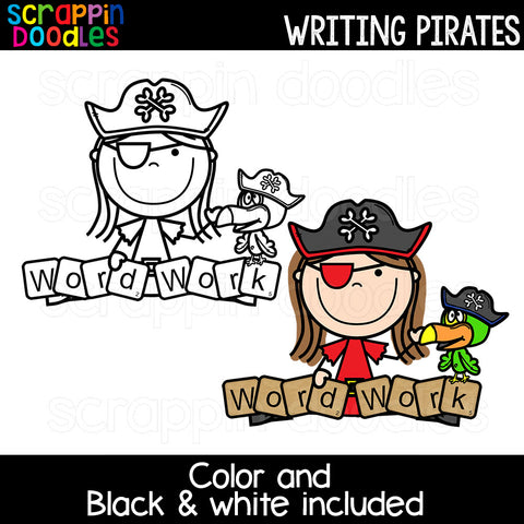 Writing Pirates Clip Art School