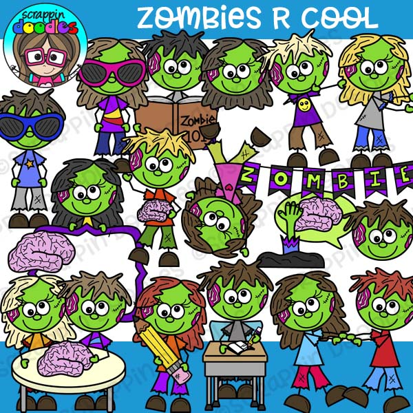 Zombies R Cool Clipart