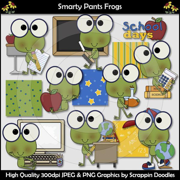 Smarty Pants Frogs Clip Art Download