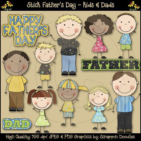 Stick Fathers Day - Kids & Dads Download