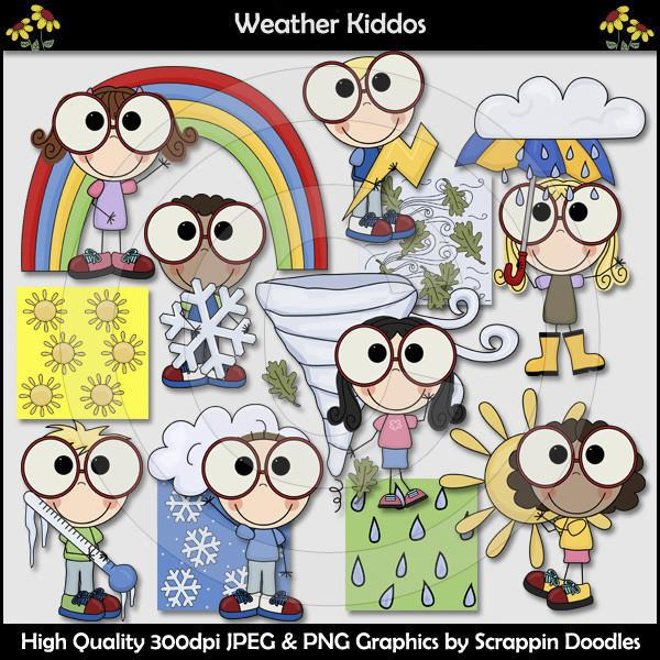 Weather Kiddos Clip Art Download