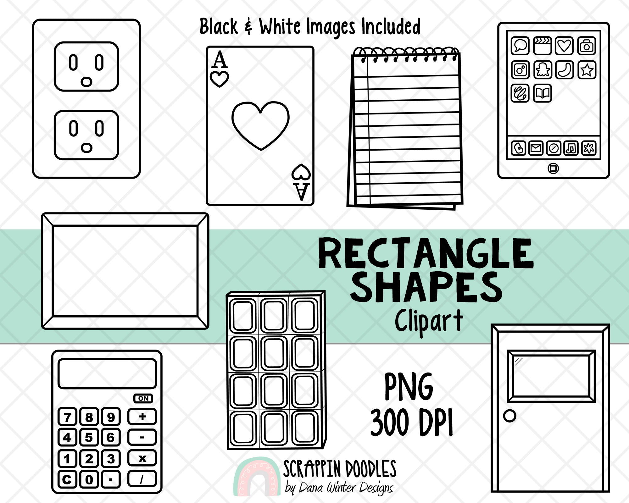Shapes Clip Art - Real Life Rectangle Shapes ClipArt - Geometric Shapes - 3D Shape Clipart - Math ClipArt - Shape Graphics - 2D Shapes