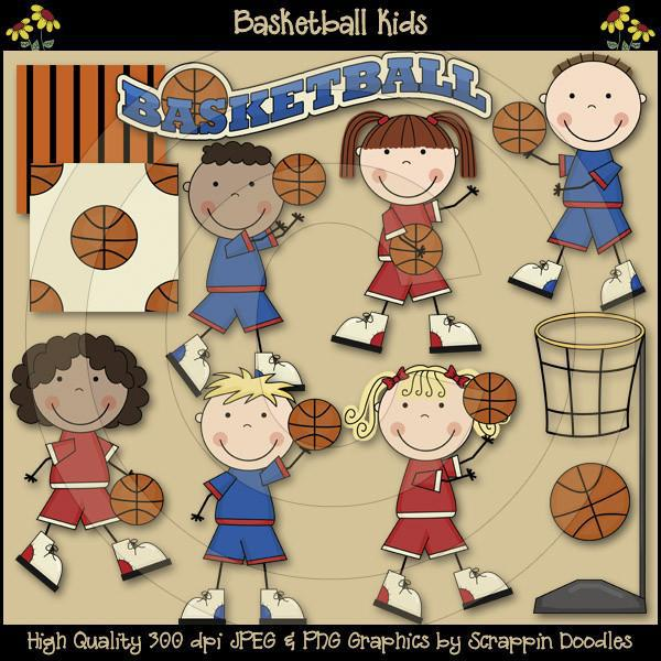 Basketball Kids Clip Art Download