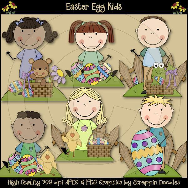 Easter Egg Kids Clip Art Download