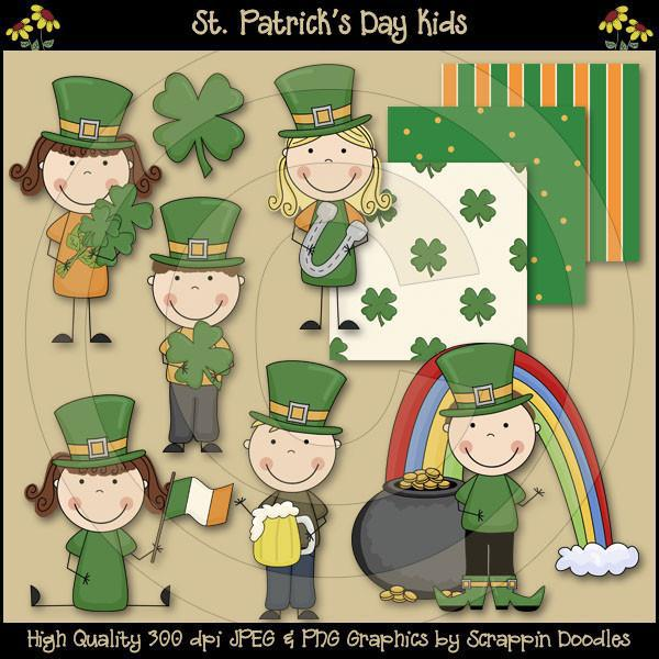 St. Patrick's Day Kids Clip Art Download