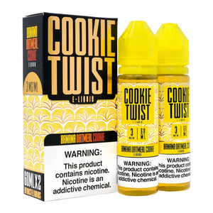 Cookie Twist Eliquid - Banana Oatmeal Cookie Ejuice - 120ml - Ejuicesteals.com