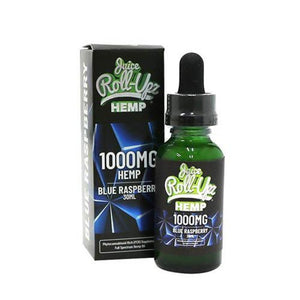Juice Roll-Upz Hemp Vape Juice - Blue Raspberry - 30ml - Ejuicesteals.com