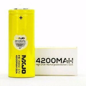MXJO - 4200mAh 22A IMR Flat Top Battery - Ejuicesteals.com