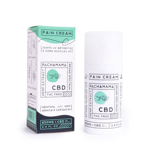 Pain Cream by Pachamama CBD 3.4oz - 850mg