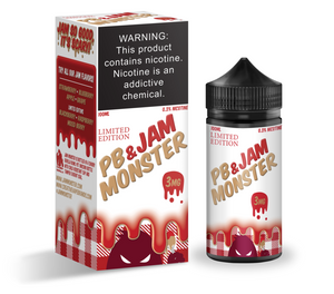 Jam Monster - PB & Jam Strawberry Ejuice - 100ml - Ejuicesteals.com