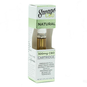 Savage Cbd - Cartridge 500Mg Natural Disposable