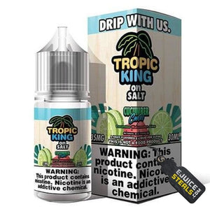 Tropic King on Salt - Cucumber Cooler Ejuice - 30ml - Ejuicesteals.com