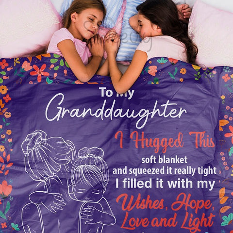 To My Granddaughter Blanket