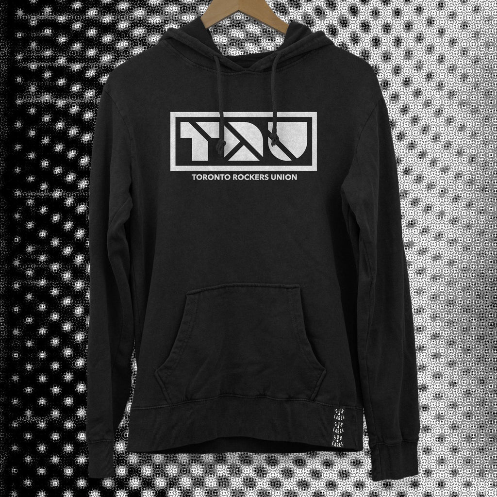 sublabel_TRU_logo_shuffler_techno_rave_club_edm_hoodie_hooded_pullover_sweatshirt_black