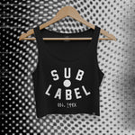 sublabel_pupil_logo_techno_rave_club_edm_crop_tank_cropped_raw_edge_womens_female_black