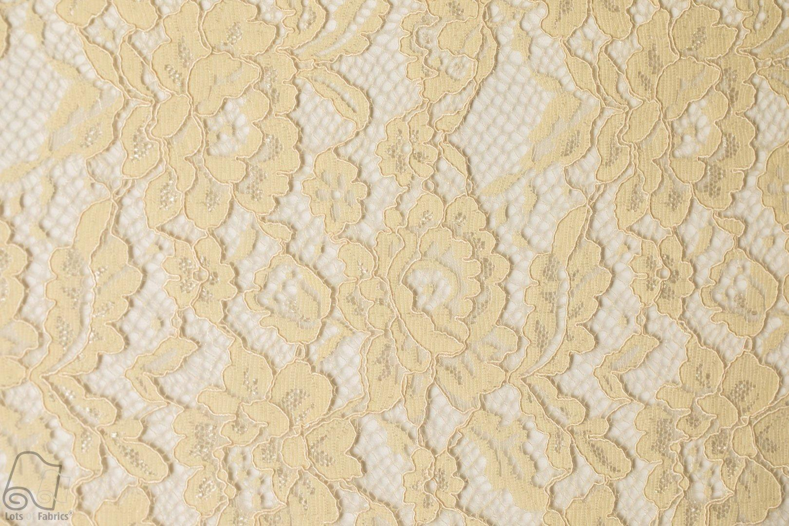 Wedding Dress Fabric.Embroidered Flat Lace Classic Wedding Dress Fabric