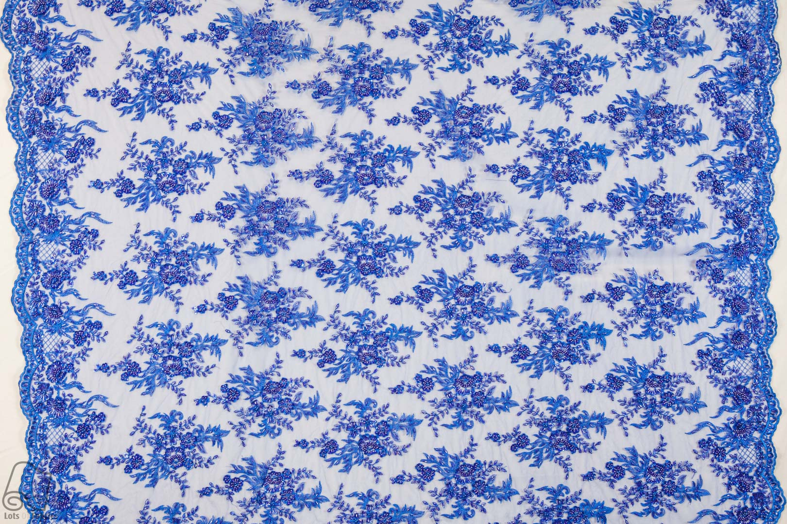 Beaded lace laser floral fabric by the yard or wholesale for Cheap fabric by the yard