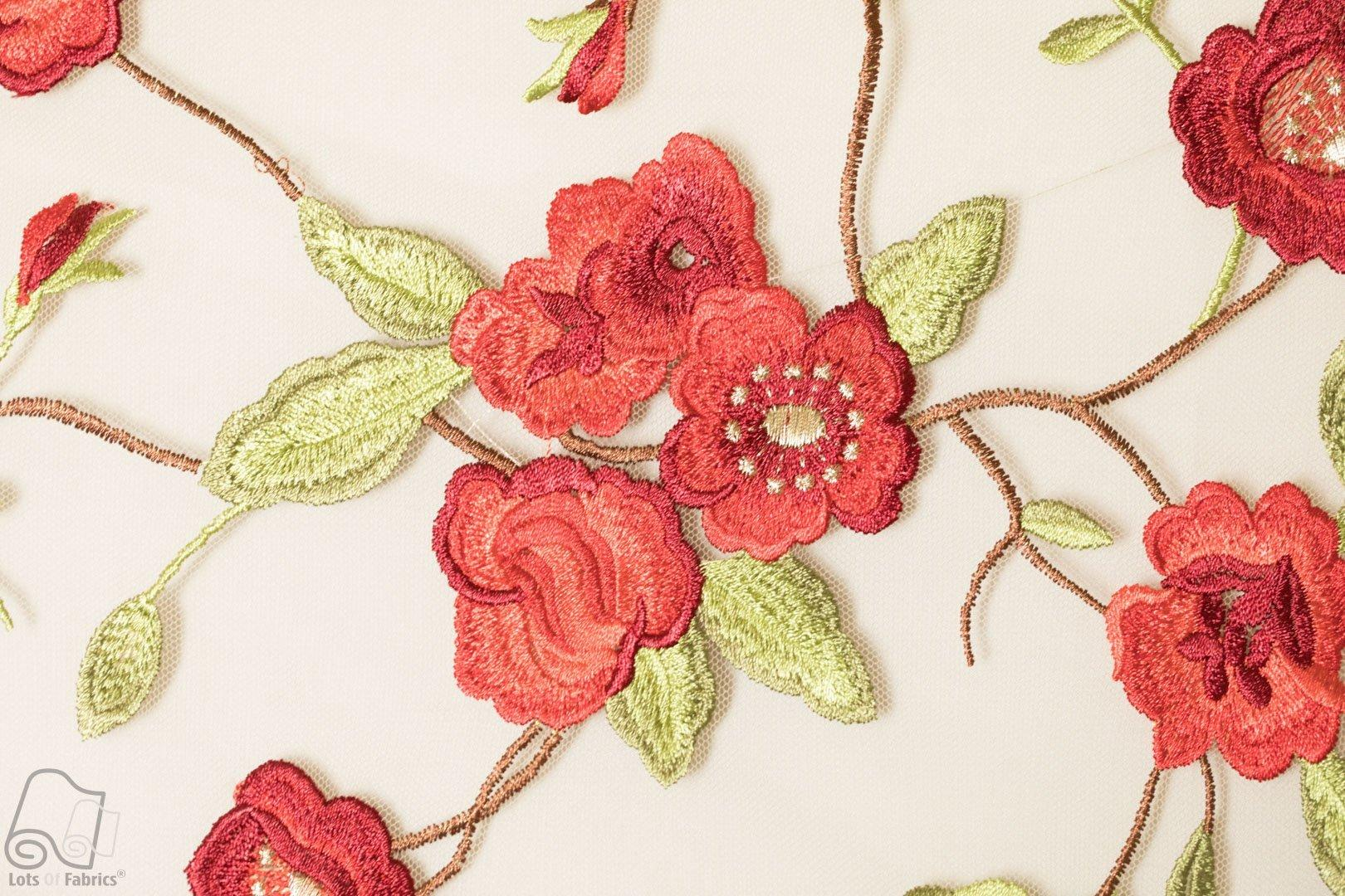 Embroidered Lace Small Flower Tiny Floral Gown Fabric