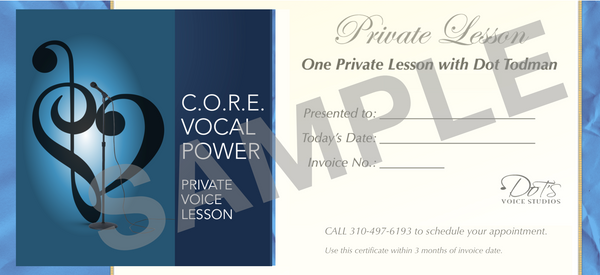 Voice Lesson Gift Certificate