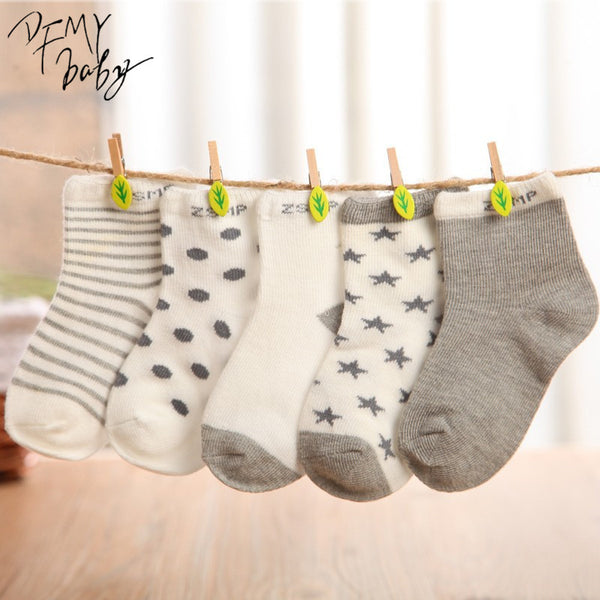 10 pieces/lot=5pair Cotton Baby Socks Newborn Floor Socks Girl and Boy Short Socks - Amariah's
