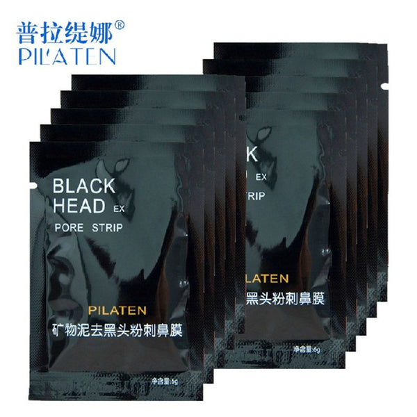 10pcs/lot Face Care PILATEN Nose Facial Blackhead Remover Mask Pore Cleanser Black Head EX Pore Strip Face Mask Acne Treatment - Amariah's