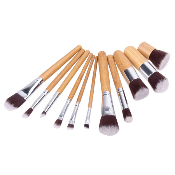 11Pcs Professional Makeup Brushes Foundation Powder Eyeshadow Blending Contour Face Blush Makeup Brush Set Pincel Cosmetic Tools - Amariah's