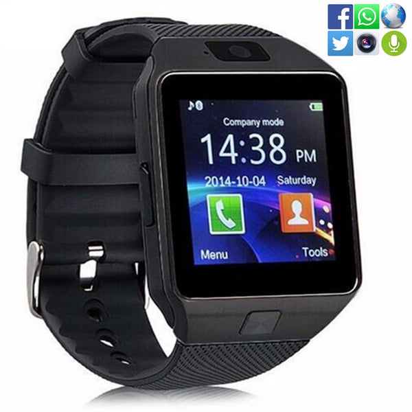 In Stock Wearable Device DZ09 Bluetooth Smart Watch Support Camera SIM TF Card Wrist Phone Watch sport wristwatch Multi-language - Amariah's