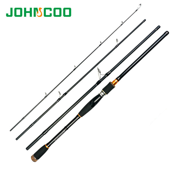 2.1 2.4 2.7m Lure Rod 4 Section Carbon Spinning Fishing Rod Travel Rod Casting Fishing Pole Vava De Pesca Saltwater Rod - Amariah's