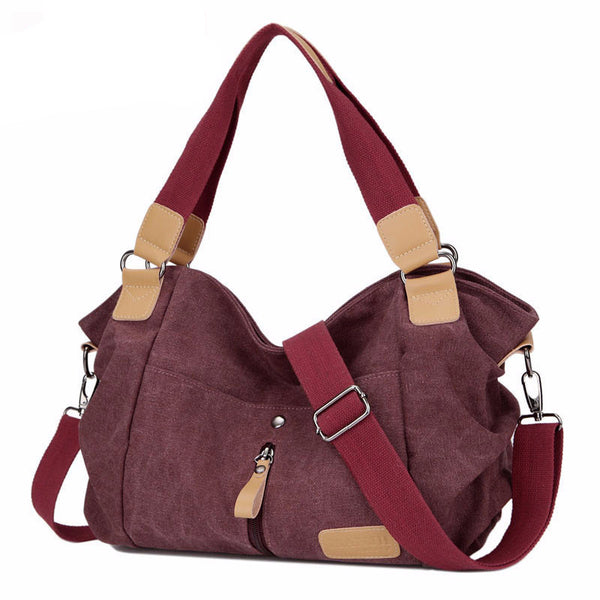 2016 Original Fashion Woman Canvas Bags Women Casual Shoulder Bag Famous Brand Female Messenger Bags Bolso Ladies Crossbody Bag - Amariah's