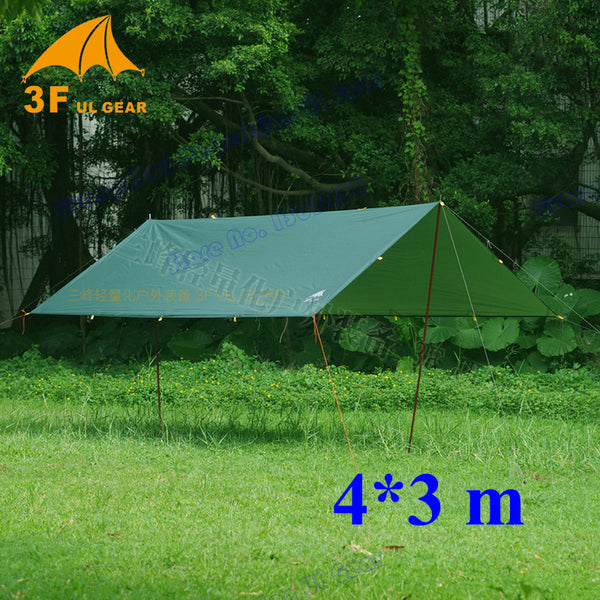 Anti UV 3F UL Gear 4*3m  210T with silver coating outdoor large  tarp shelter  high quality beach awning - Amariah's