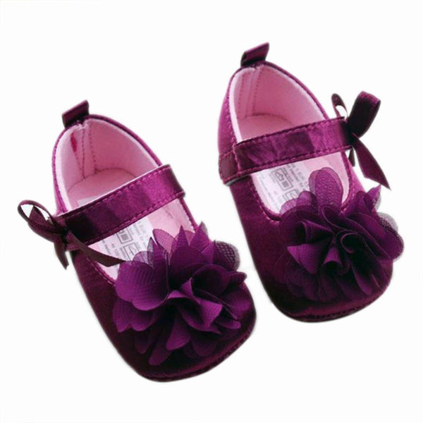 Baby Girl Shoes Todder First Walkers Shoes Infant Girls Prewalker Flower Soft Sole Shoe - Amariah's